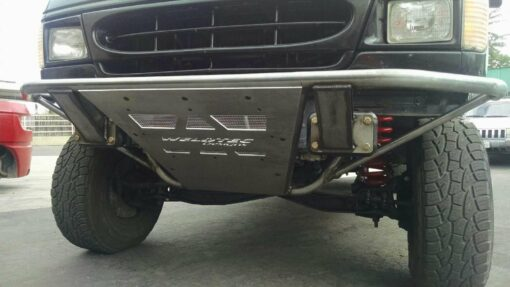 tube bumper with skid plate