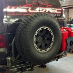 weldtec designs tire carrier rear bumper