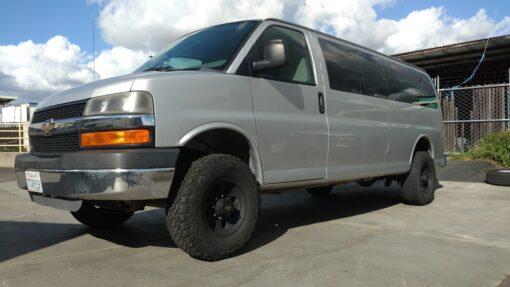 Chevrolet Express 2 wheel drive lift