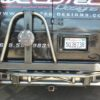 Ford e series rear tube bumper with tire carrier