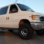 FOrd Van with 6 inch suspension lift kit