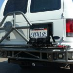 Ford econoline rear bumper with tire carrier. Mojave