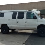 lifted 2 wheel drive sporstmobile van