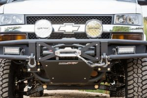 chevrolet express tube winch bumper