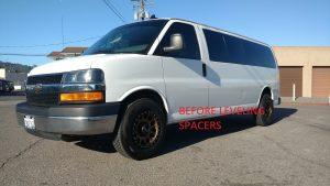 Chevrolet Express aluminum leveling spacer