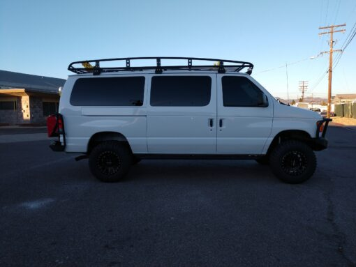 ford e series aluminum roof rack
