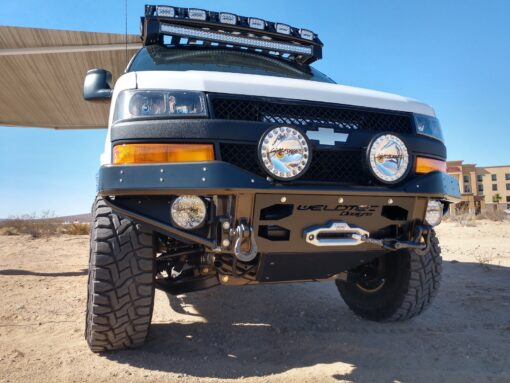 chevrolet express stealth winch bumper