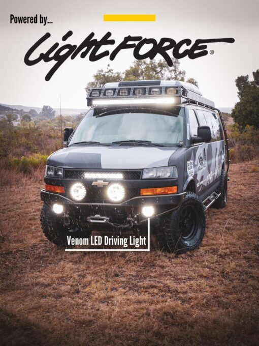 Chevy Express 4×4 van Venom LED driving light