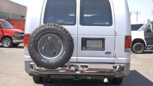 dual swing rear tube bumper with tire carrier