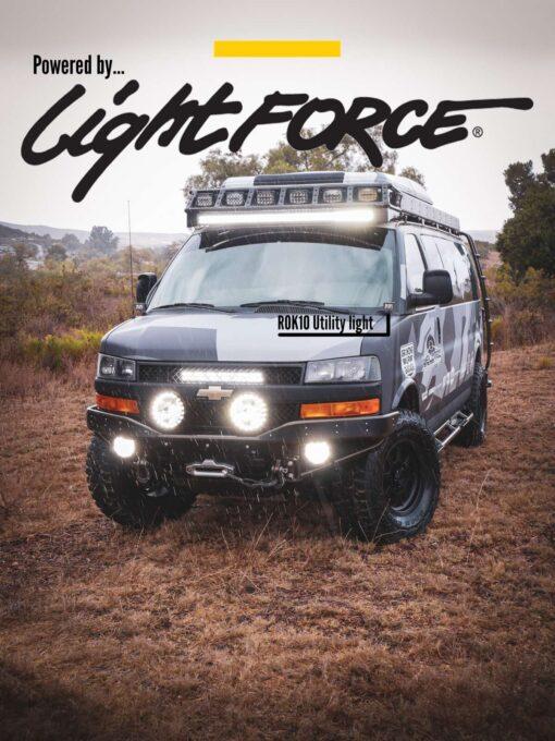 Chevy Express 4×4 van rok10 utility light